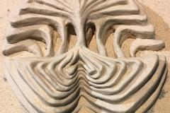 "Collective Unconscious; Articulations, Installation, plaster cast, textured paint, sand 13"" x 12""x 3"""