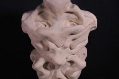 """Collective Unconscious; Totem, Plaster cast, textured paint. 16"""" x 7"""" x 6"""""""