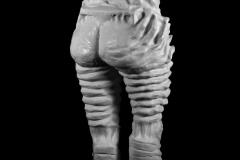 "Divinus Foemina, plaster cast, approx. 60"" x 20"" x 20"". 2017"