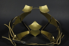 """Blinders, brass and leather.  7""""x 6""""x 7"""""""